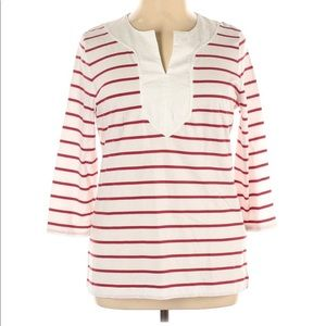 EUC 🌟 Lauren Ralph Lauren Stripe 3/4 sleeve XL